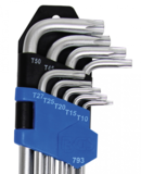 Jeu de clés coudées extra longues Profil T (pour Torx) T10 - T50 9 pièces_