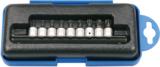 Jeu de douilles embouts 6,3 mm (1/4) Profil T (pour Torx Plus) 9 pieces_