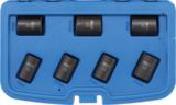 Jeu de douilles speciales / extracteur de vis cassees 12,5 mm (1/2) 17 - 26 mm 7 pieces_