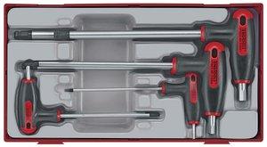 Set Allen avec poignée en T tc-tray 2.5/8mm 7dlg