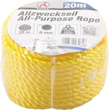 Corde tout usage 20 m x 6 mm