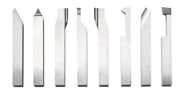 Jeu de 8 outils de tour hss 12 x 12 mm