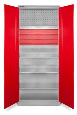 Armoire de rangement universelle avec étagères et tiroirs