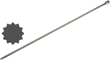 Embout speciale, torx (XZN) M8x800 mm. 1/2.