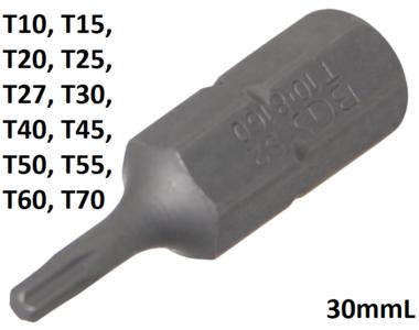 Bit 8 mm (5/16) hexagonale profil T (pour Torx) T10