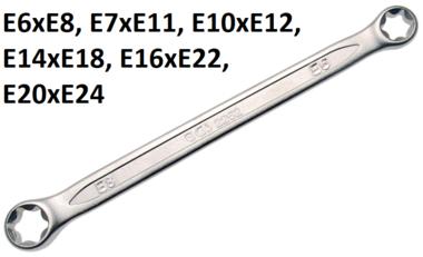 Cle polygonales double embouts avec t tes polygonales profil E E6xE8