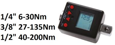 Adaptateur de couple numerique, 1/4, 6-30 Nm