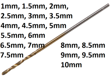 Foret torsade, HSS-G, titane, 1,5 mm (2 pieces)