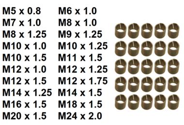 Inserts taraudes M5 x 0,8 mm 25 pieces
