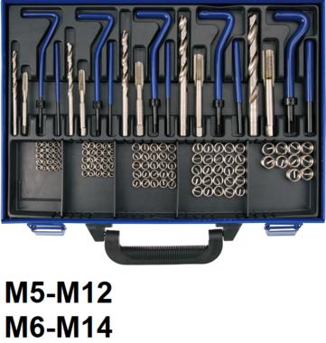 Kit de reparation de filets M5 - M12 - 130 pieces