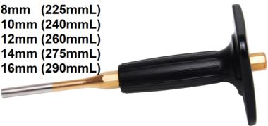 Poincon parallele 8 mm, longueur 225 mm