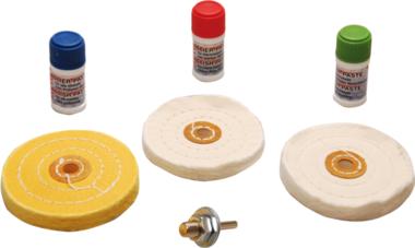 Kit de polissage pour metal doux 7 pieces