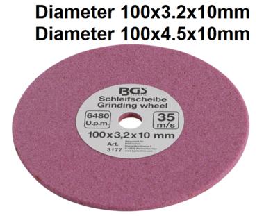 Disque abrasif pour art. 3180, 100 x 3,2 x 10 mm
