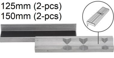 Protecteur de m choire a banc de 2 pieces, en aluminium, 125 mm