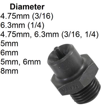 Mandrin OP1 pour art. 3057 4,75 mm (3/16)