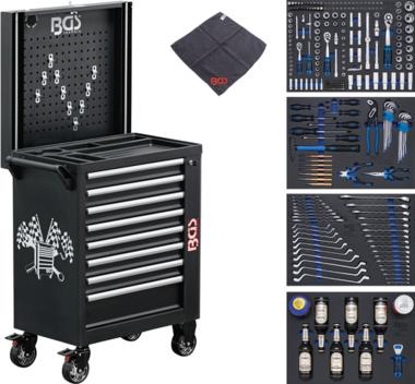 Servante d'atelier 8 tiroirs avec 263 outils