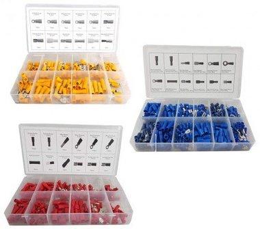 Connecteurs de cable rouge, bleu, jaune 650 pieces