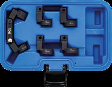 Jeu de cles a tuyauter flexible 5 tetes interchangeables empreinte (3/8) 11-17mm