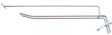 Crochet mural double 300 x 4,8 mm avec bras de support et axe transversal