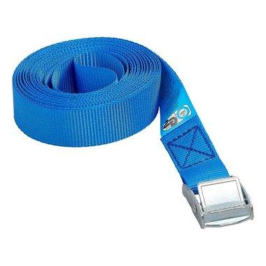 Sangle d'arrimage bleu avec boucle de serrage 5 metres