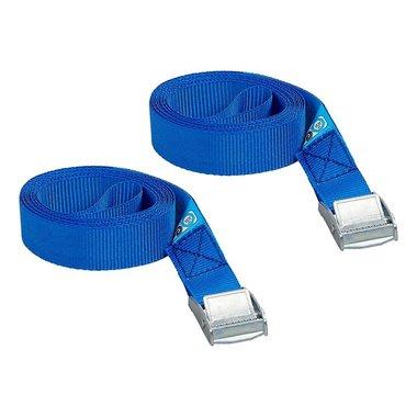 Sangle d'arrimage bleu avec boucle de serrage 2x2,5 metres