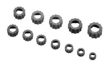 Ensemble d'extracteurs d'ecrous/boulons 12 pieces