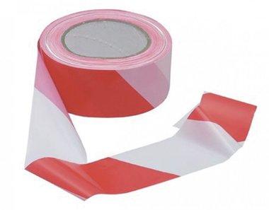 Ruban amovible rouge et blanc 50mm
