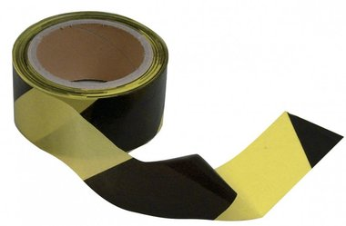 Sortie du ruban noir-jaune 50mm