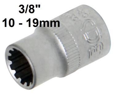 3/8 Douille femelle, 10mm