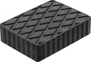 Bgs technic Rubberen pad voor hefplatforms 160 x 120 x 40 mm