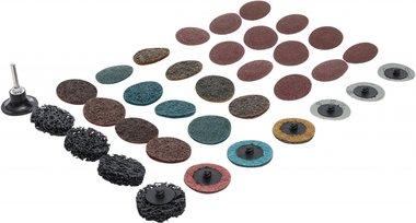 Jeu de disques/plateaux abrasifs 50 mm 35 pieces