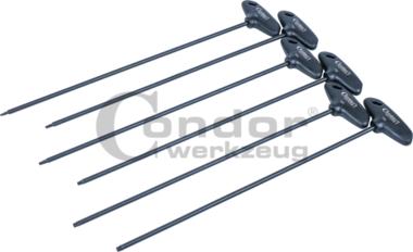 Set de cles a poignee en T, 6 pieces, extra longues, tx-star T10-T30