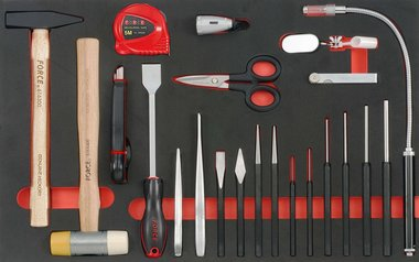 Module mousse de 21 outils de frappe