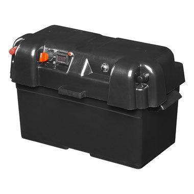 Boite a batterie 35x18x20cm 2x USB - 1x prise 12V - Voltmetre