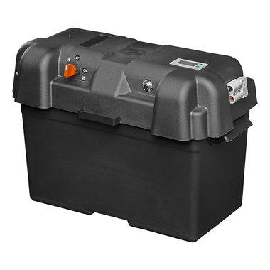 Boite a batterie 35x18x23cm 2x USB - 1x 12V prise - Voltmetre - 2x connecteur Anderson