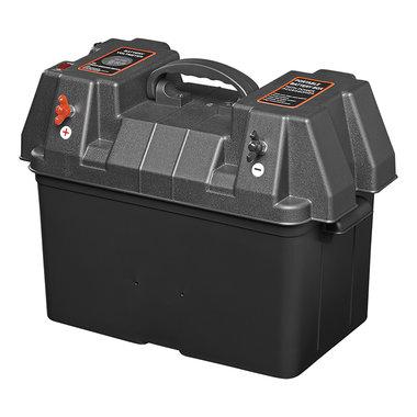 Boite a batterie 33x20x20cm 2x USB - 2x prise 12V - Voltmetre