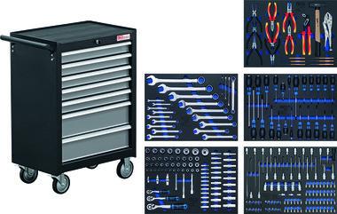 Workshop Trolley BGS 2001, complet avec 243 outils