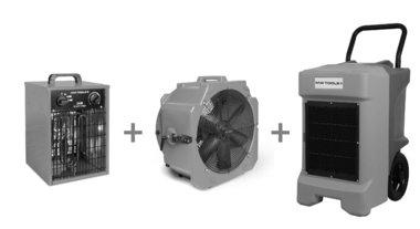 Seche-linge BDE95 + ventilateur MV500PPL + soufflerie d'air chaud WEL33