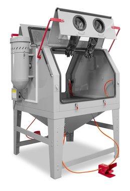 Cabine de sablage 1200 liter double avec aspiration