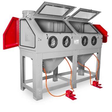 Cabine de sablage 880 litres a double poste de travail