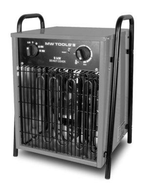 Ventilateur d'air chaud electrique 9kw 3x400V