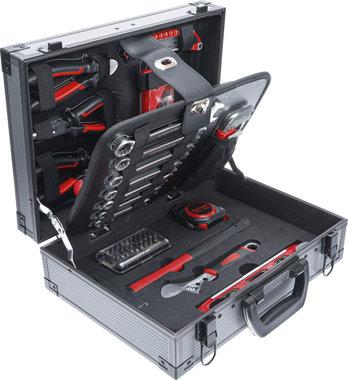 Jeu d'outils dans malette aluminium 66 pieces