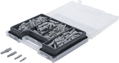 Cassette meches combinees et chevilles 300 pieces