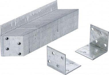 Angle Joint Value Pack (50 pieces), 40x40x40x2 mm, galvanise