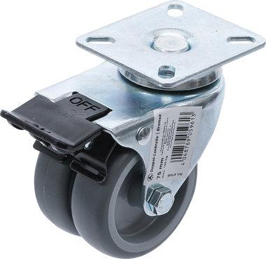 Roue pivotante avec frein Ø 75 mm