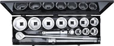 Coffret de douilles 25 mm (1) 36 - 80 mm 15 pieces