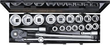 Coffret de douilles 20 mm (3/4) 19 - 50 mm 20 pieces