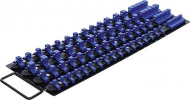 Jeu de rails pour douilles avec 80 clips pour douilles de 6,3 mm (1/4), 10 mm (3/8), 12,5 mm (1/2)