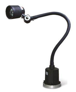Luminaire flexible pour machine a LED avec tete d'eclairage mobile