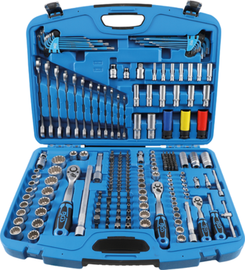 Jeu de douilles Gear Lock 6,3 mm (1/4) / 10 mm (3/8) / 12,5 mm (1/2) 218 pieces